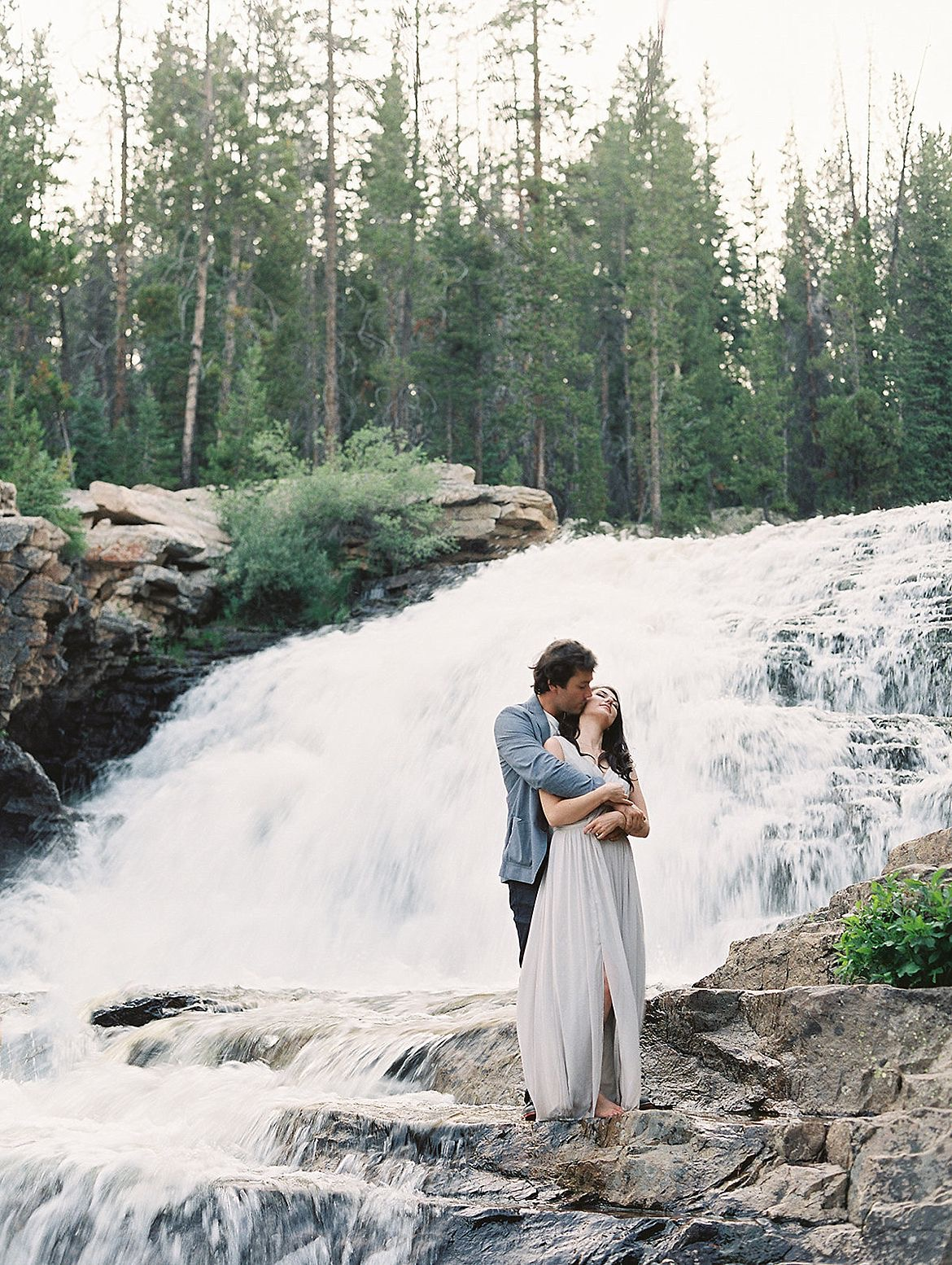 Blue Waterfall Engagement