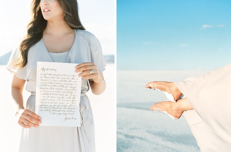 Bonneville Salt Flats Engagement Inspiration