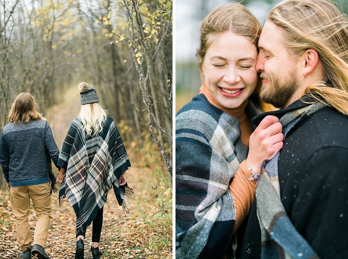 Outdoor Autumn Engagement Session
