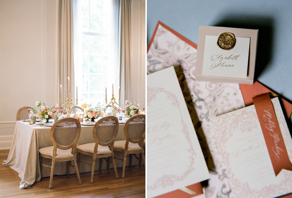 Table and invitations